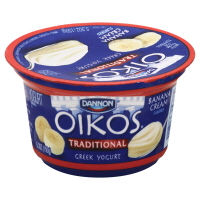 Dannon Oikos Greek Yogurt Traditional Banana Cream