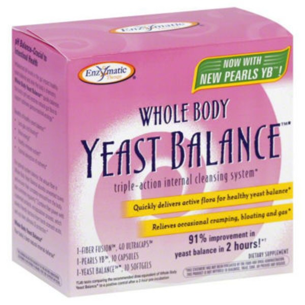 Enzymatic Therapy Internal Cleansing System, Whole Body Yeast Balance