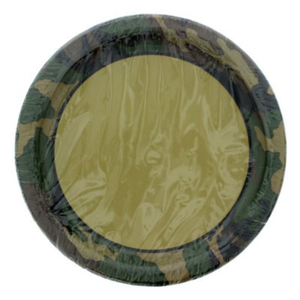 Unique Military Camo Party Plates