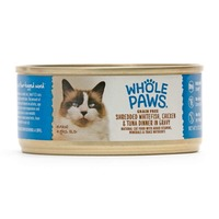 Whole Paws Shredded Whitefish, Chicken & Tuna In Gravy Cat Food