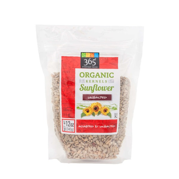 365 Organic Roasted Unsalted Sunflower Kernels
