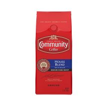 Community Coffee Dark Roast Ground Coffee, House Blend, 12 Oz