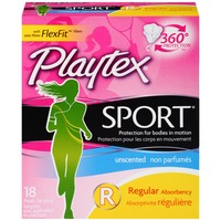 Playtex Sport Unscented Regular Absorbency Tampons