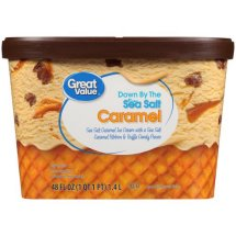 Great Value Sea Salt Caramel Truffle Ice Cream, 48 fl oz