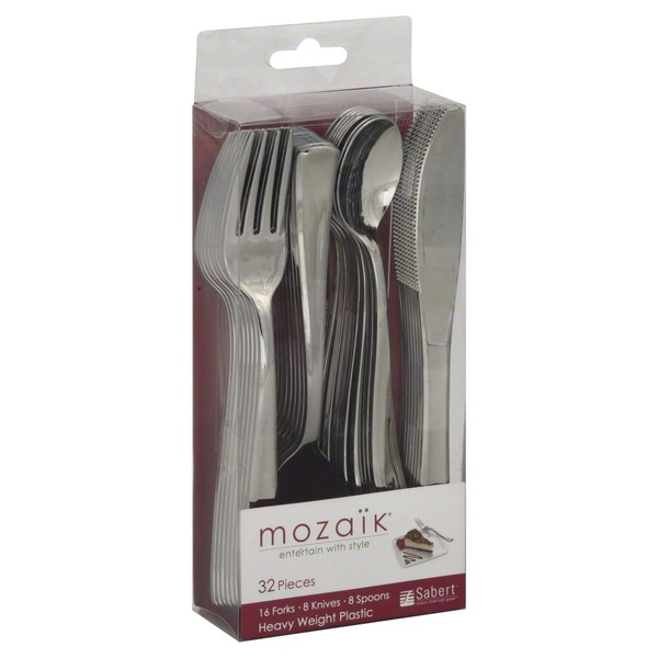 Mozaik Cutlery, Heavy Weight Plastic