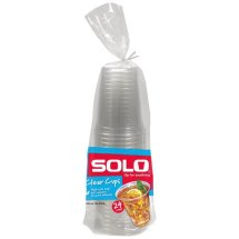 Solo Clear Cups, 18 oz, 24 count