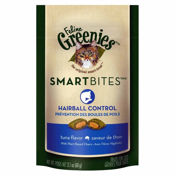 Greenies Feline Smartbites Hairball Control Tuna Flavor Cat Treats