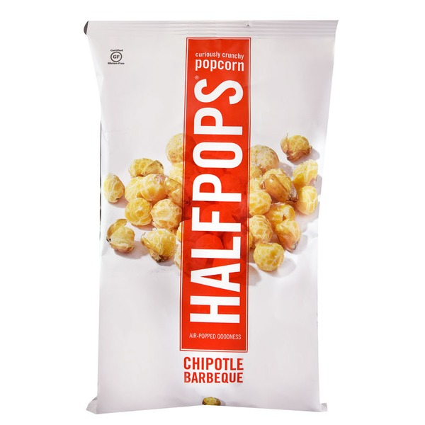 Halfpops Popcorn, Curiously Crunchy, Chipotle BBQ