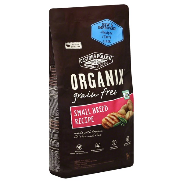 Organix Dog Food, Adult, Small Breeds Recipe