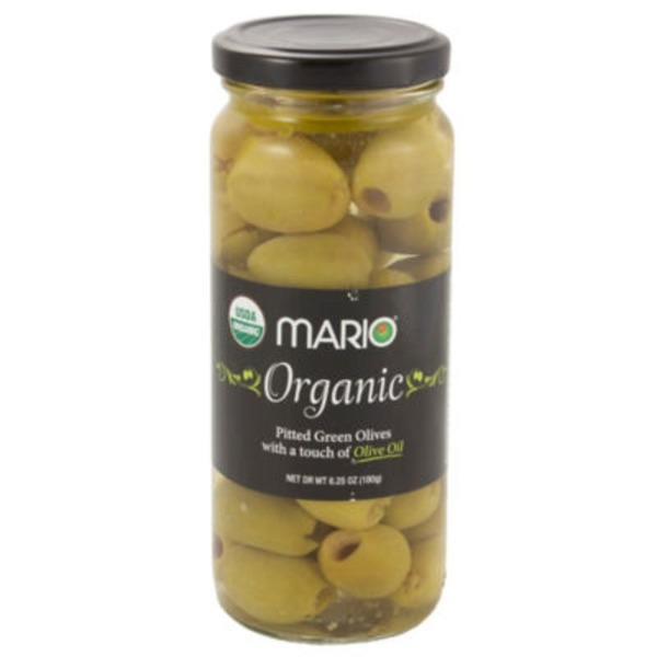 Mario Pitted Green Olives