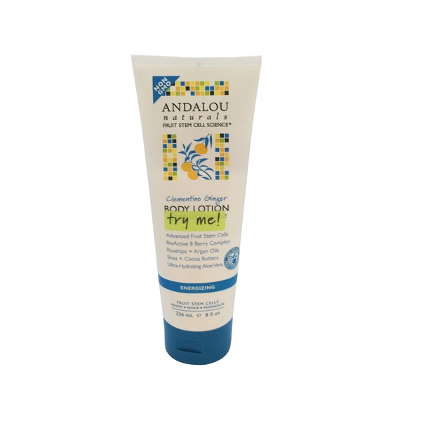 Andalou Naturals Body Lotion, Clementine Ginger, Energizing, Tube