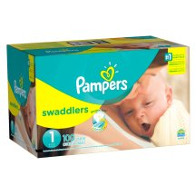 Pampers Swaddlers Diapers, Size 1, 168 Diapers