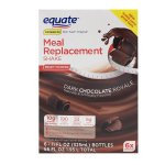 Equate Dark Chocolate Royale Meal Replacement Shakes, 11 Oz, 6 Ct