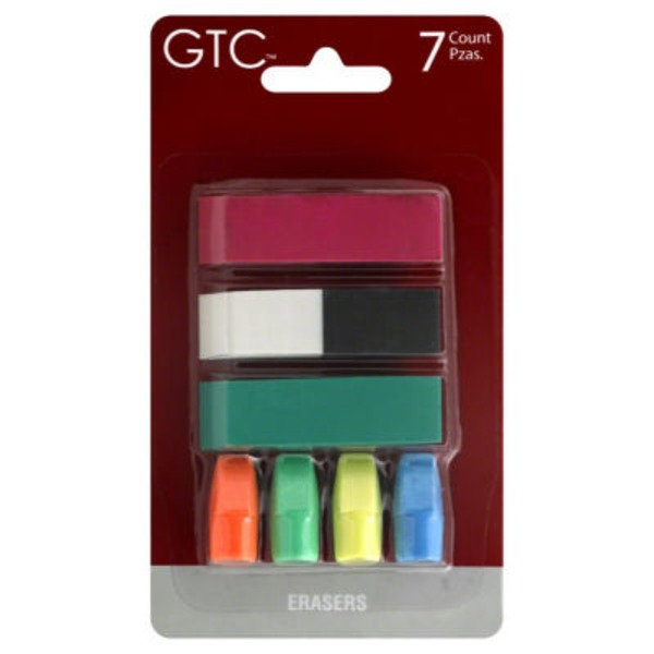 GTC Assorted Erasers