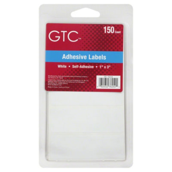 GTC White Adhesive Labels
