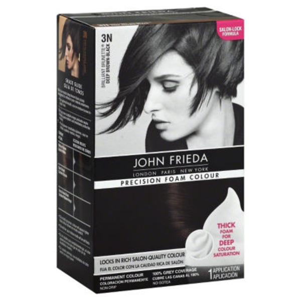 John Frieda Hair Color Precision Foam Colour Brilliant Brunette Deep Brown-Black 3N Permanent Hair Colour