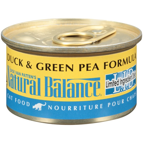 Natural Balance L.I.D. Duck & Green Pea Formula Cat Food