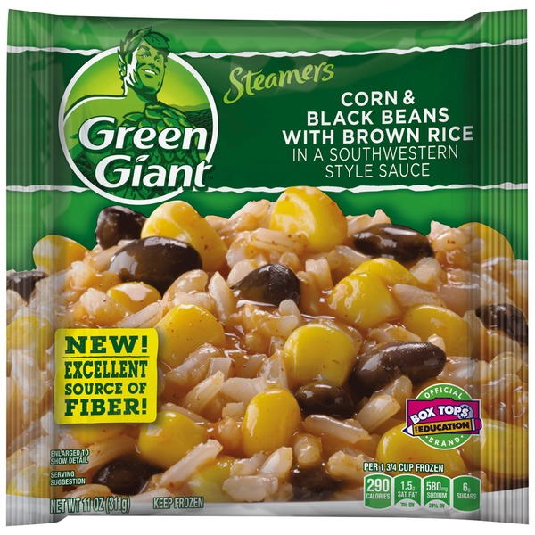 Green Giant Corn & Black Beans with Brown Rice in Southwestern Style Sauce Steamers