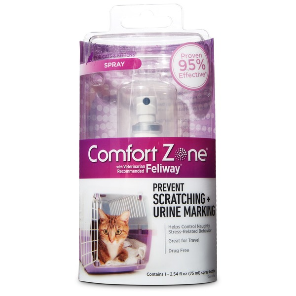 Feliway Comfort Zone Spray Prevent Scratching + Urine Marking