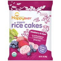 Happy Baby/Family Organic Blueberry & Beet Rice Cakes