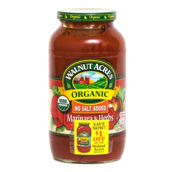 Walnut Acres Organic Pasta Sauce Marinara & Herbs No Salt Added