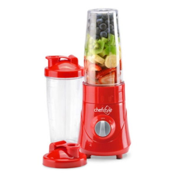 Chef Style On The Go Personal Red Blender