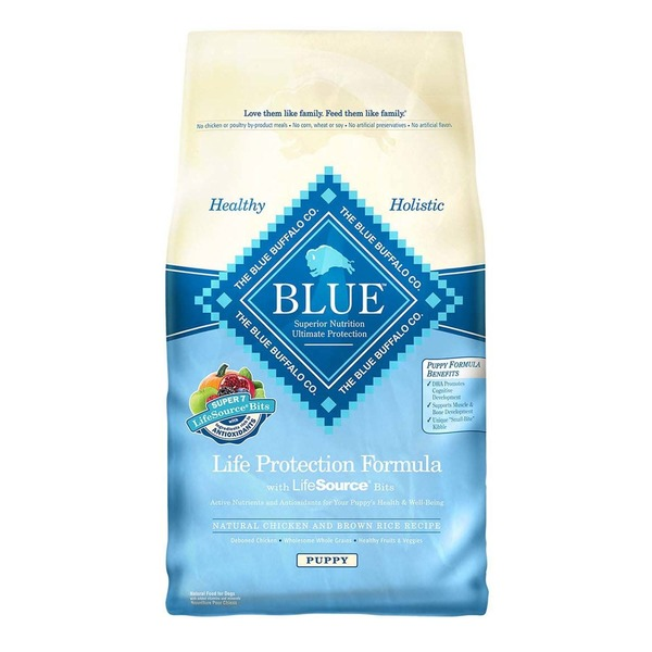 Blue Buffalo Food for Puppies, Natural, Life Protection Formula, Puppy, Natural Chicken and Brown Rice Recipe