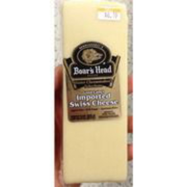 Boar's Head Imported Swiss Cheese, Sold By The Pound