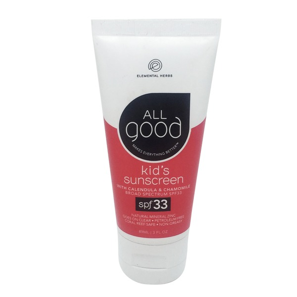 Elemental Herbs All Good Kid's Zinc Sunscreen SPF 33