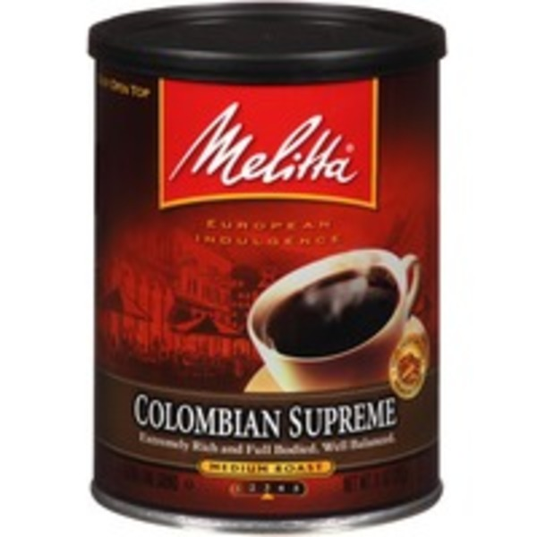 Melitta Colombian Supreme Medium Roast Ground Coffee