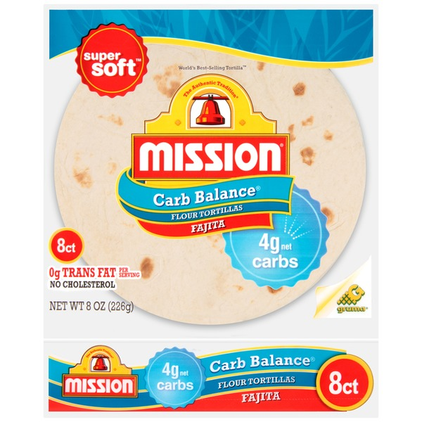 Mission Carb Balance Small Fajita Flour Tortillas