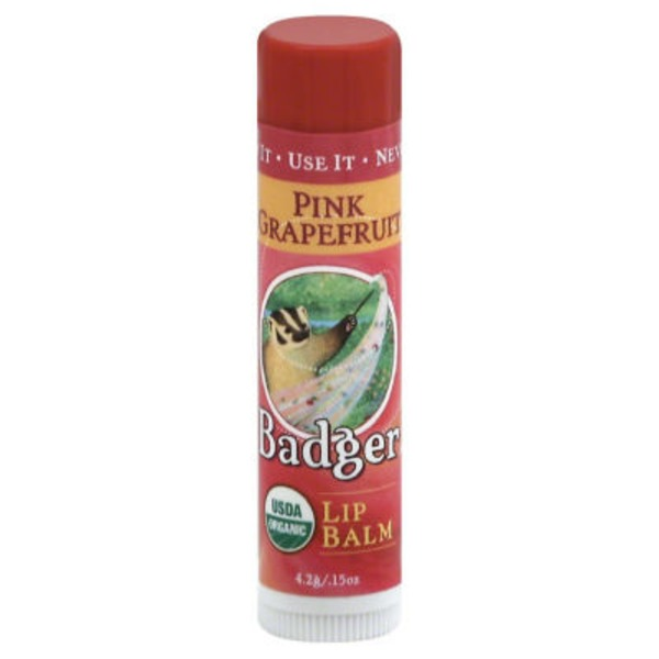 Badger Lip Balm, Pink Grapefruit