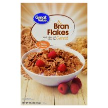 Great Value Bran Flakes Cereal, 15.6 oz