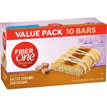 Fiber One Cheesecake Bar, Salted Caramel, Dessert Bar, 10 Fiber Bars, 13.5 oz (Value Pack), 1.35 OZ