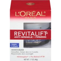 L'Oreal Paris RevitaLift Anti-Wrinkle Firming Night Cream, 1.7 Ozs Single pack