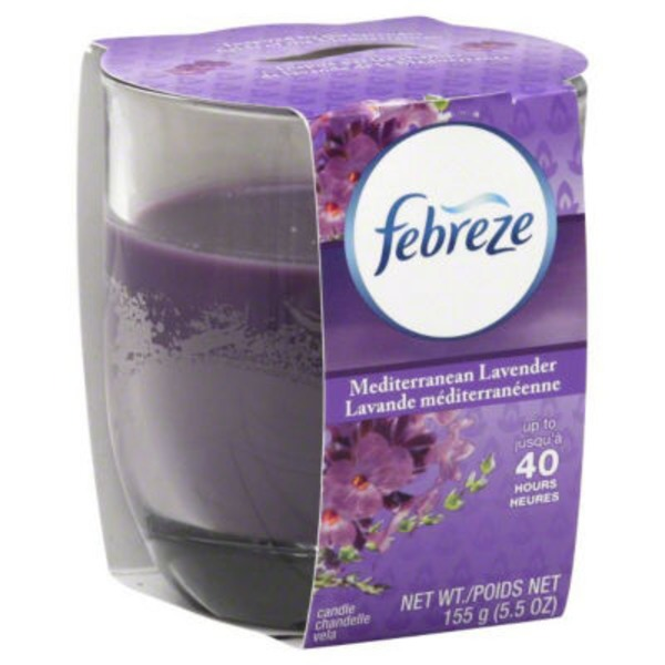 Febreze Candle Febreze Scented Candle Mediterranean Lavender Air Freshener (1 Count, 4.3 oz)  Air Care