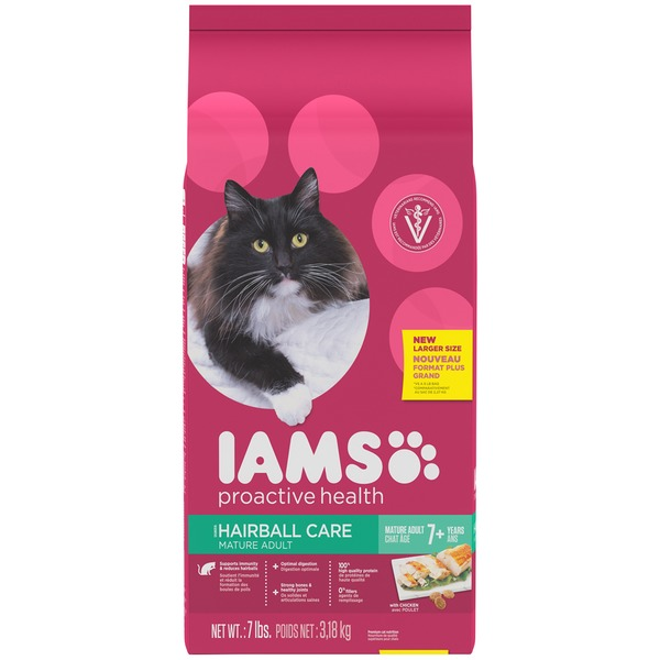 Iams Hairball Care Mature Adult with Chicken Cat Food