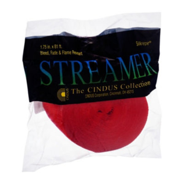 Silkrepe Streamer Flame Red