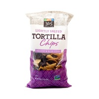 365 Lightly Salted Yellow & Blue Corn Tortilla Chips