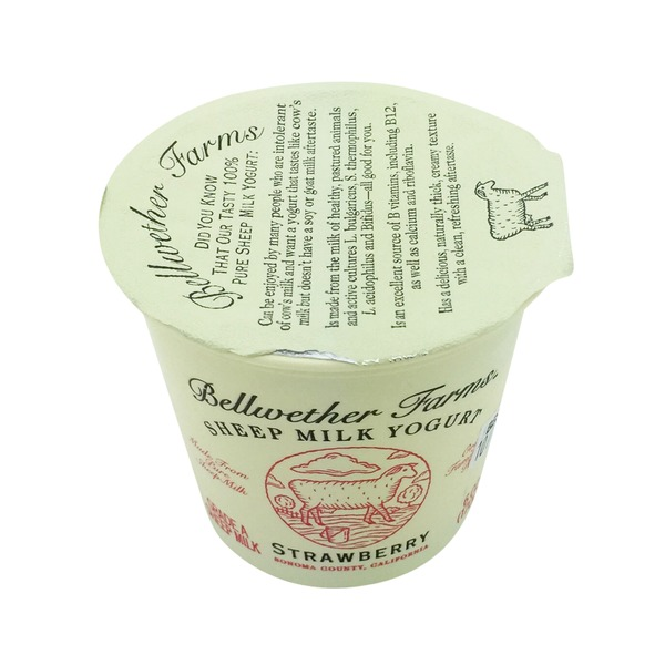 Bellwether Farms Sheep Milk Strawberry Yogurt