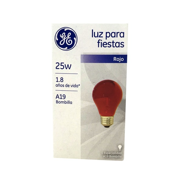 GE Red 25 Watts Party Bulb