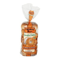 Thomas Limited Edition Pre-Sliced Bagels Pumpkin Spice - 6 CT