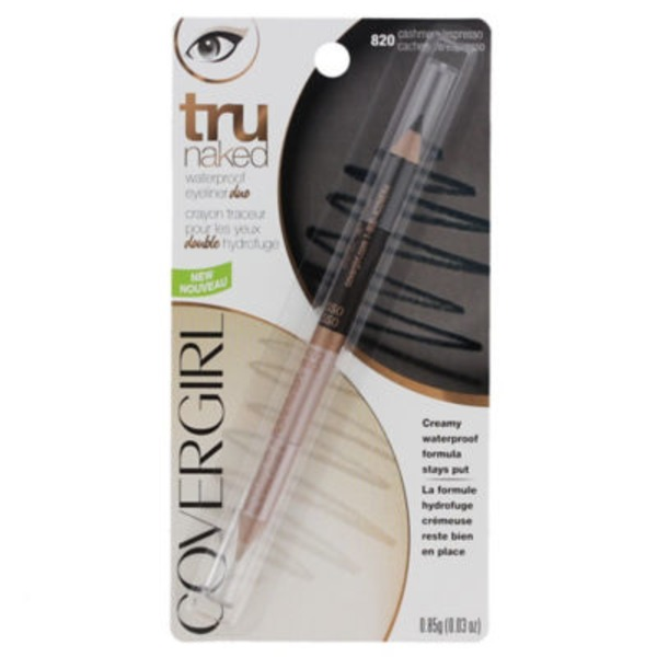 CoverGirl truNaked COVERGIRL truNaked Waterproof Eyeliner Duo, Cashmere/Espresso .03 oz (850 mg) Female Cosmetics