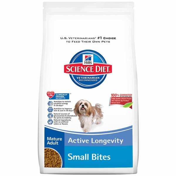 Hill's Science Diet Veterinarian Recommended Mature Adult Active Longevity Small Bites Dog Food