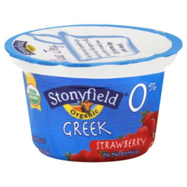 Stonyfield Organic Organic Strawberry Nonfat Greek Yogurt