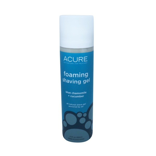 Acure Blue Chamomile & Cucumber Foaming Shave Gel