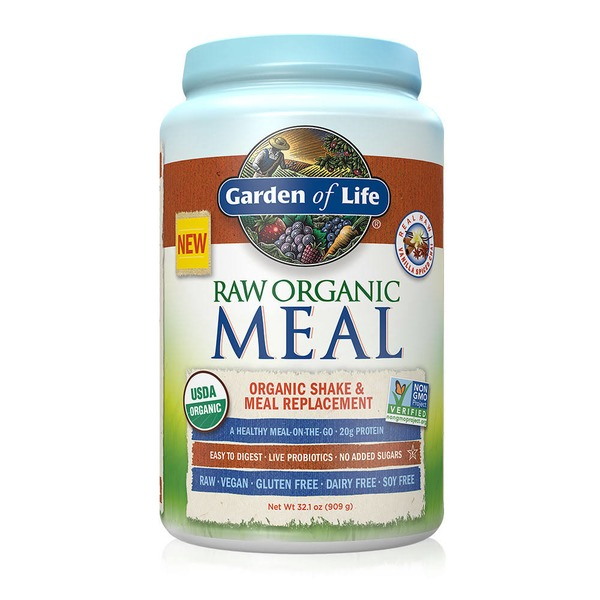 Garden of Life Raw Meal Vanilla Spiced Chai Organic Shake & Meal Replacement