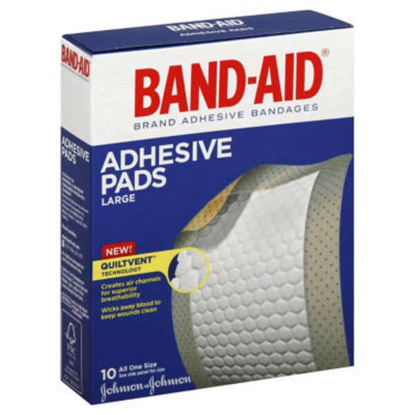 Band Aid® Brand Adhesive Bandages Large All One Size 2 7/8