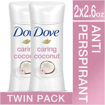 Dove Advanced Care Caring Coconut Antiperspirant Twin Pack
