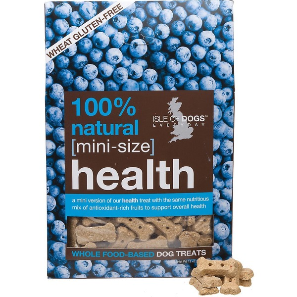 Isle of Dogs Dog Treats, Whole Food-Based, Health, with Whole Oats + Blueberries, Mini-Size